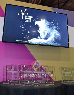 IoT Global Awards winners trophies